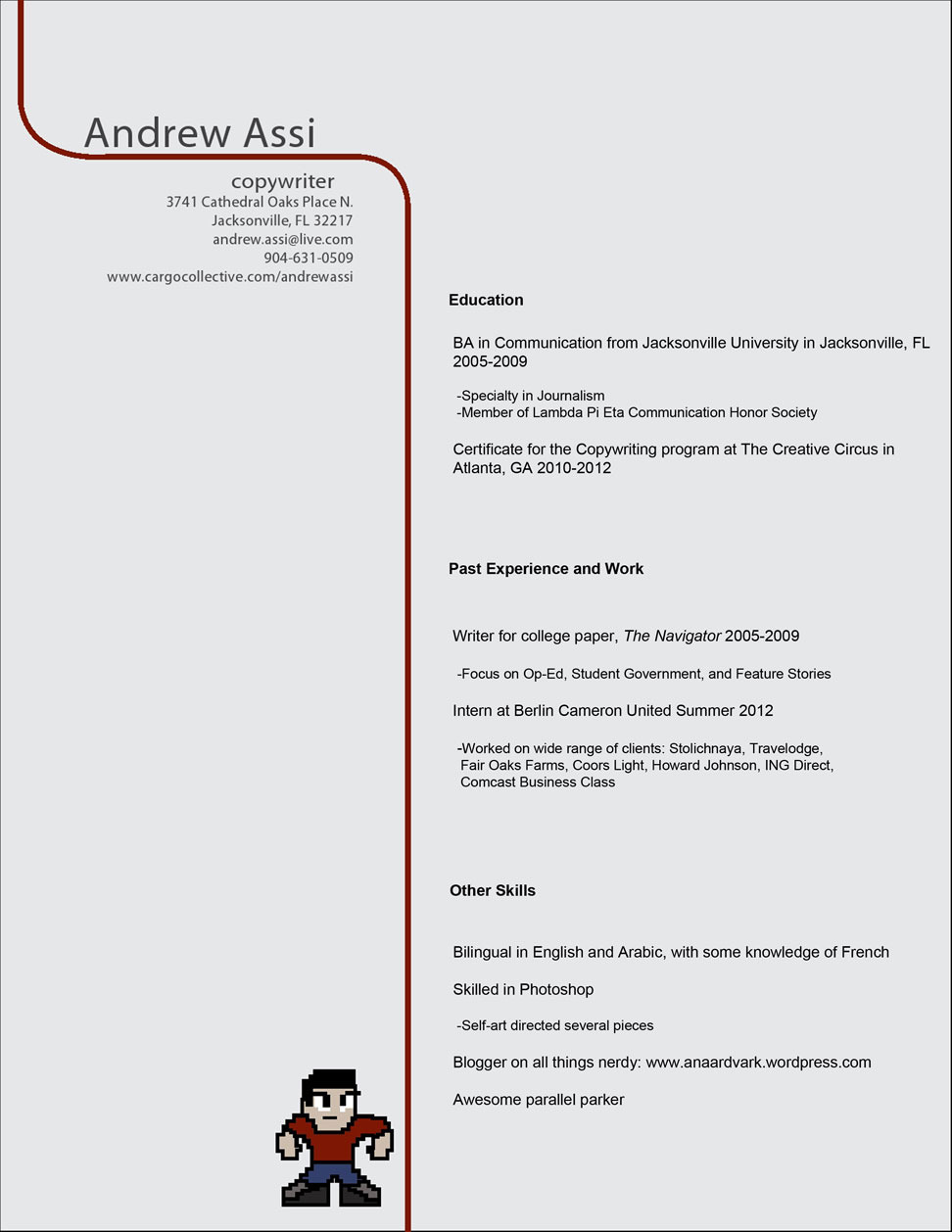 resume  portfolio download - andrew a  assi